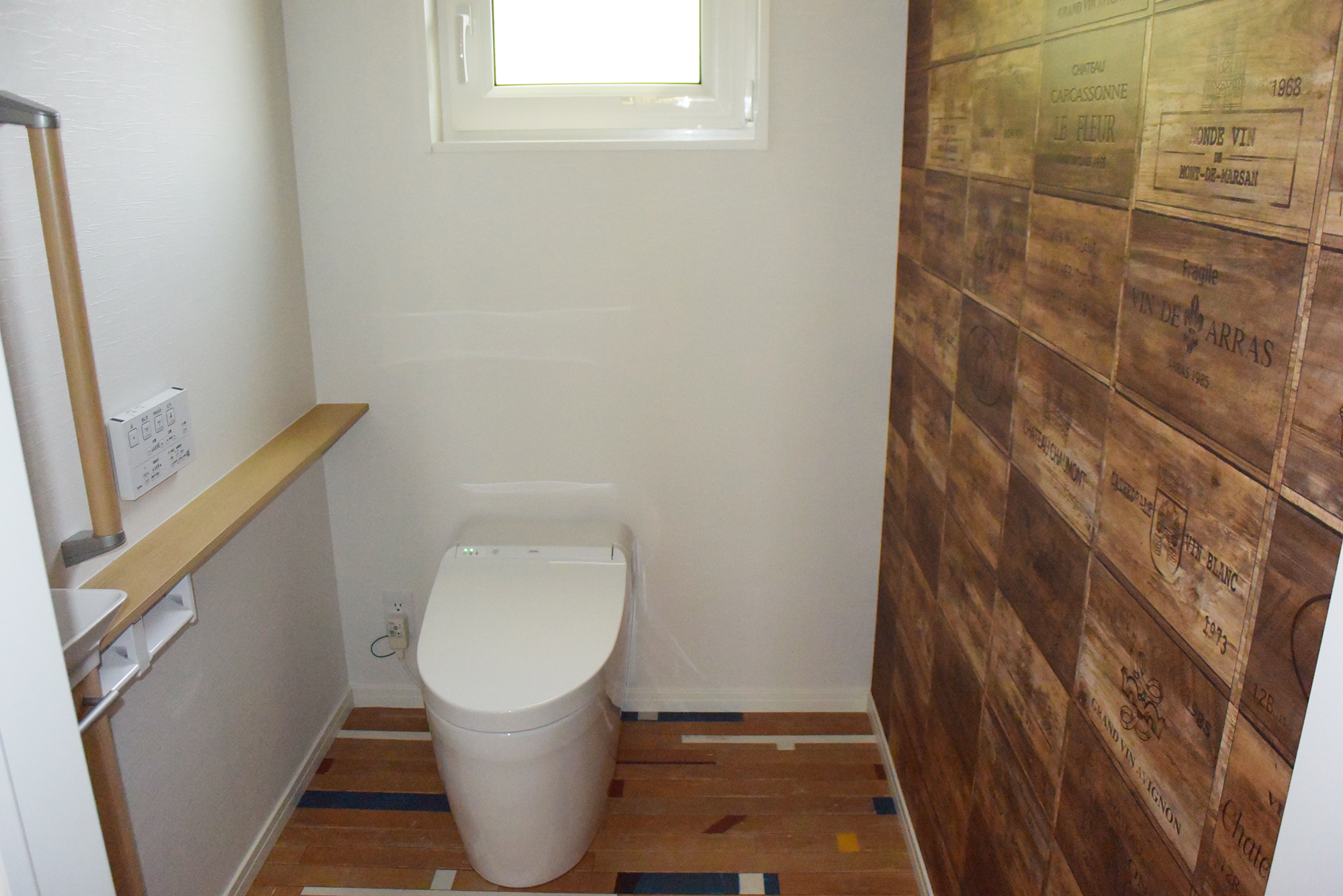 広々とした空間の1Fトイレ。しかもとてもおしゃれ!