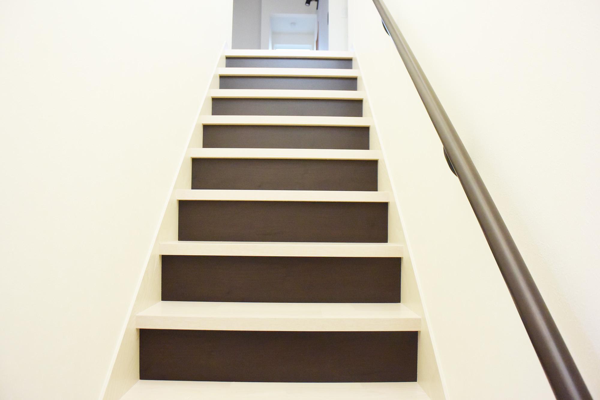 美しい手すり階段です。