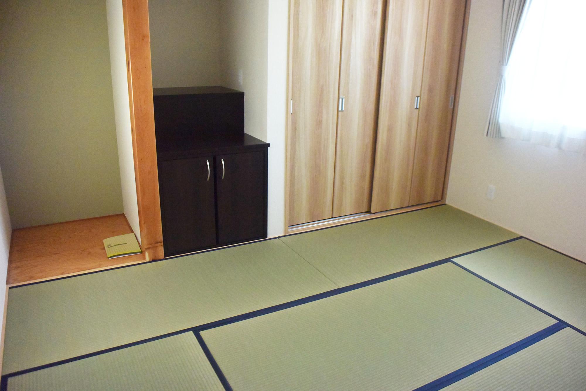 落ちついた1F和室。お客様のおもてなしにも活用できます。